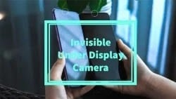 Concept of under display selfie camera