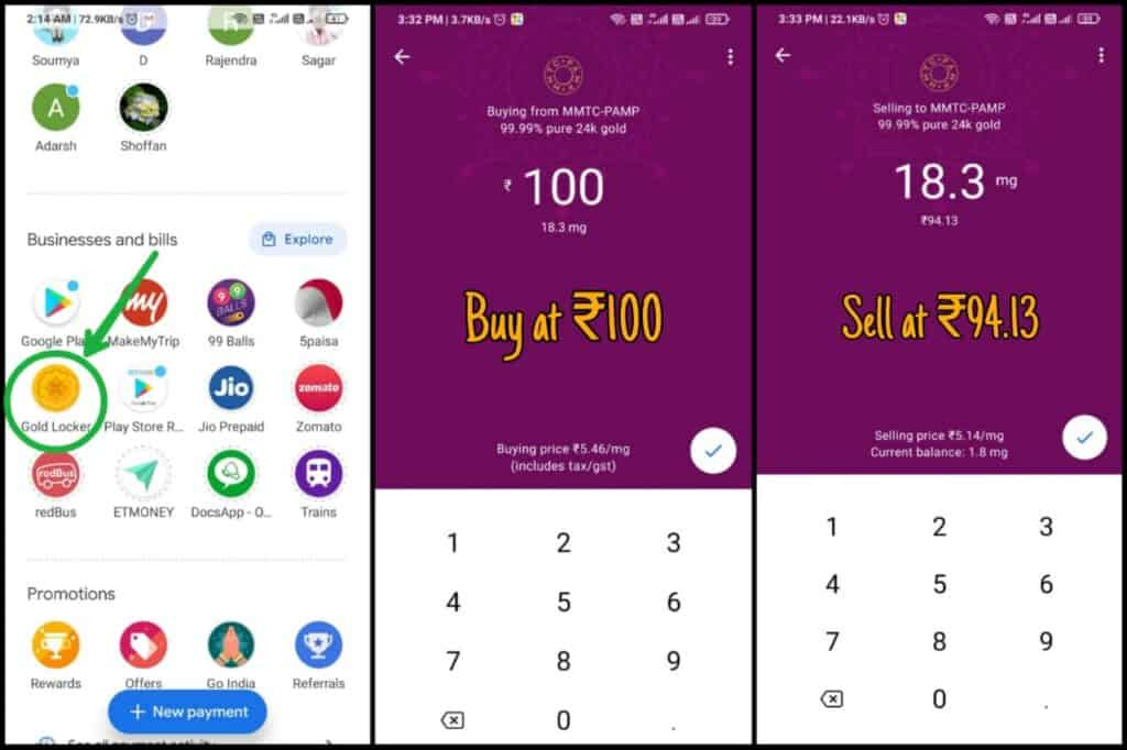 Gold Locker Trick to collect Google Pay Go India Tickets And kilometers