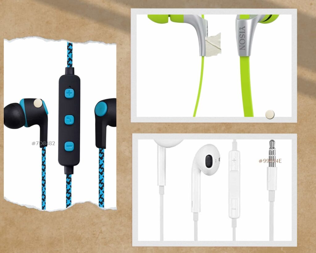 Cable types of earphones
