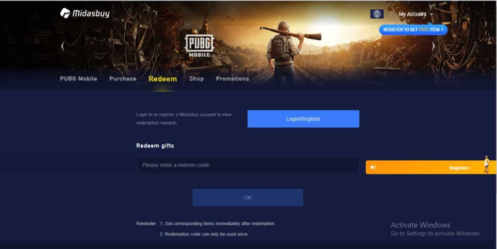 How to redeem PUBG codes