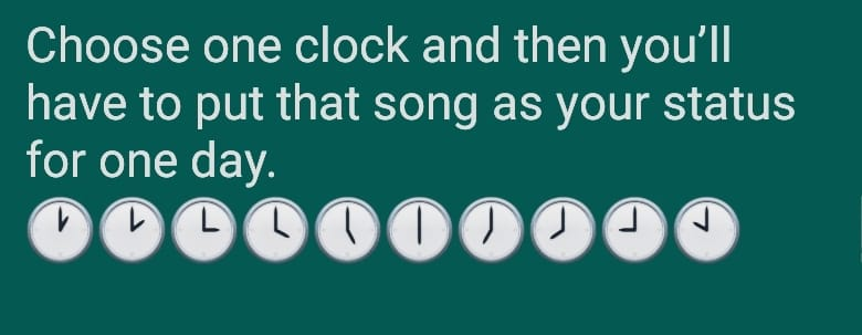 Whatsapp game guess the song
