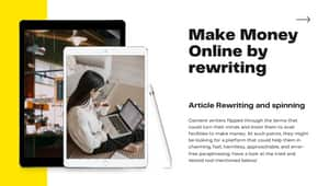 Make money by article rewriting